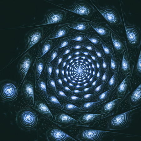 blue spiral: Blue spiral fantasy in space, computer generated abstract background. Fractal art graphic.