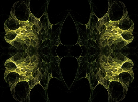 astrophysics: Translucent symmetric nebula complex structured, bubbles and flows in different directions . Fractal art graphics.