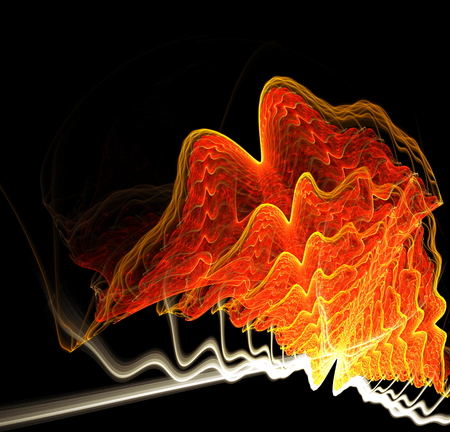 atmospheric: Abstract image resembling clouds. Fractal art graphics. Stock Photo