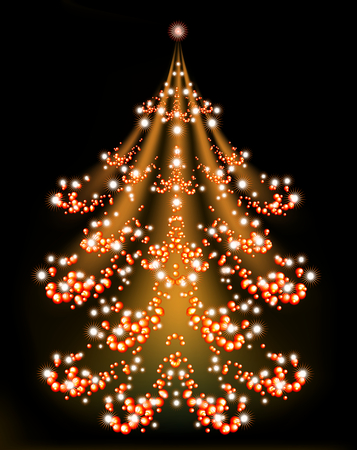 brilliant: Brilliant Christmas tree with a star.