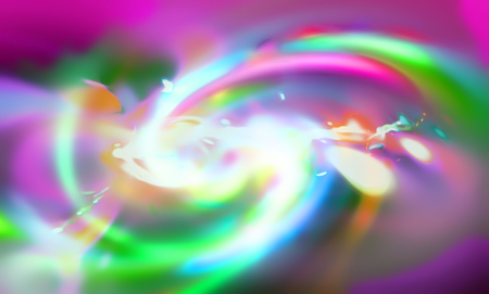 fantastic: Fantastic abstract color space with spiral arms. Fractal art graphic Stock Photo