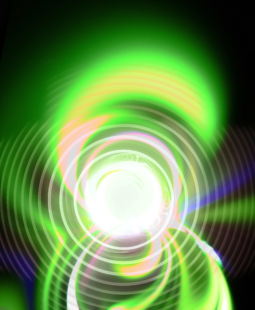 gossamer: Abstract figure from spirals, green waves and plasma. Fractal art graphics.