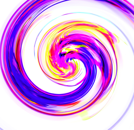blue spiral: Abstract blue spiral with a complex filamentary structure on white background. Fractal art graphic Stock Photo