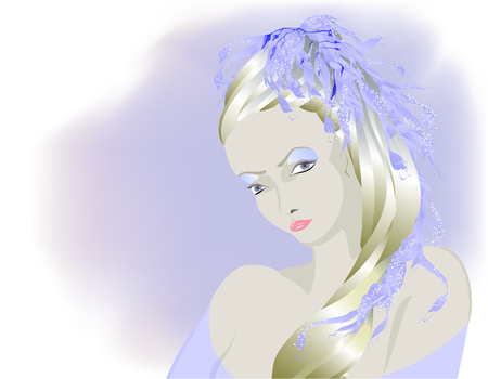 Fairy light Albino Mädchen, Snow Queen. EPS10 Vektor-Illustration Standard-Bild - 78498067
