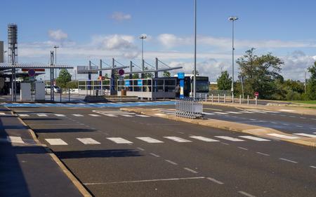 gaulle: Public Transport Station in Terminal 2G Charles de Gaulle International Airport Paris, France. Editorial