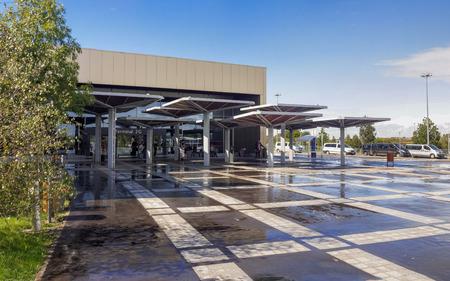 charles de gaulle: International Airport Terminal Exterior view - Terminal 2G in Charles de Gaulle International Airport Paris, France. Editorial