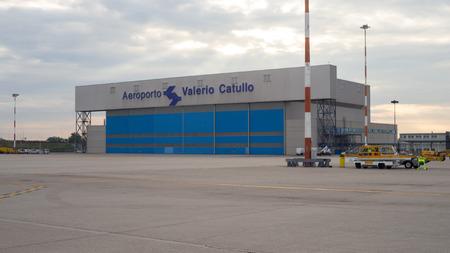 duty belt: Maintenance Service Hangar at Airfield in Verona Airport