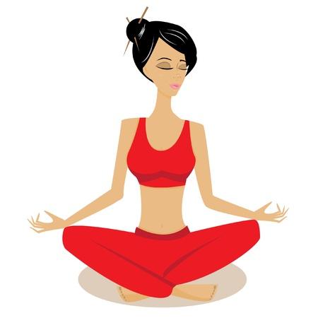 Yoga schoonheid Vector Illustratie