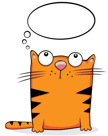 cartoon poes: Cute cat cartoon. Vectorillustratie Stock Illustratie