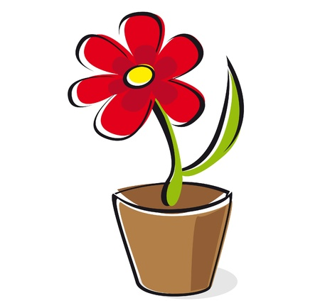 Flower in colour red-illustration vector