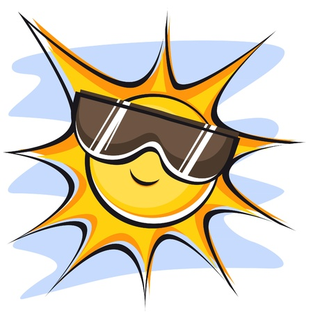 sunglasses cartoon: sun_and_sunglasses(38).jpg Illustration