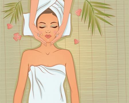 massage therapie: Spa. Beautiful_girl_enjoying_massage (52). Jpg