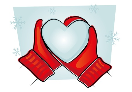 mittens-with-heart(30).jpg Stock Photo