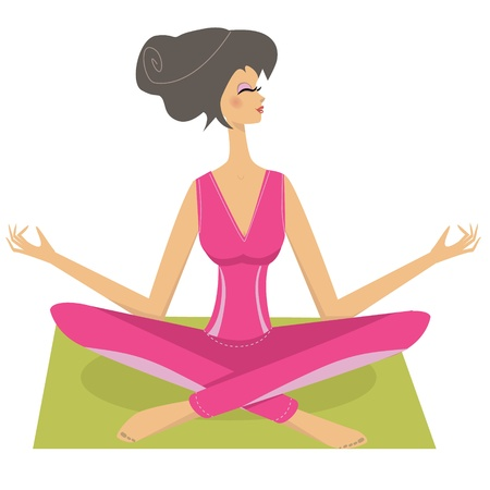 Meditation pretty girl