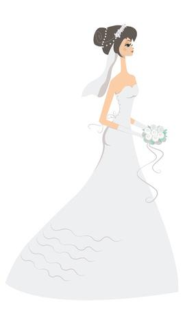 Happy bride Illustration