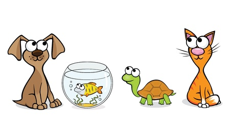 Vector illustration of pets for a pet-shop Illustration