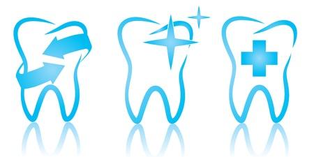 Vector illustration of dental set Illustration