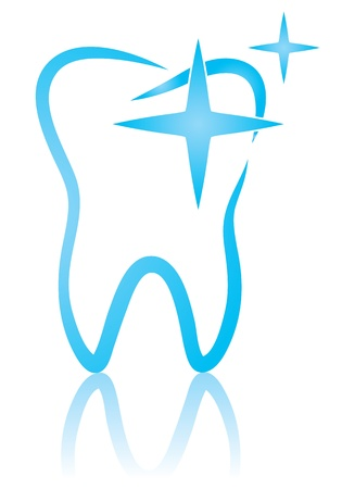 Vector illustration of dental shine