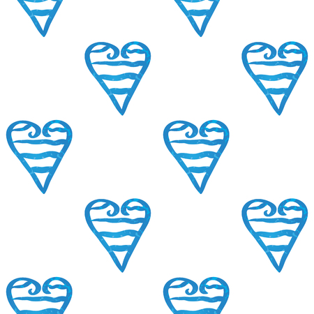 industry pattern: Vector illustration of a pattern of striped hearts