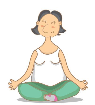 vishuddha: illustration of an yoga grandmoter. Colorful picture