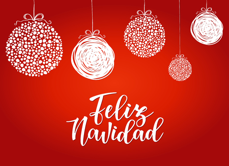 Feliz navidad spanish typography lettering holiday greetings holiday greetings spanish quote isolated on white m4hsunfo