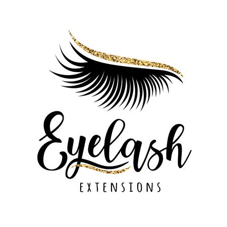 Logo d'extension de cils. Illustration vectorielle de cils. Pour salon de beauté, fabricant d'extensions de cils. Banque d'images - 92524300
