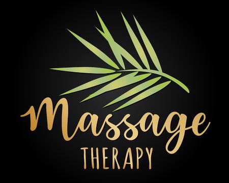 Vectorillustratie op het thema van massagetherapie, zelfzorg, spa salons, ontspanning. Kan worden gebruikt voor visitekaartjes, flyers, schoonheidssalons. Stockfoto - 93065936