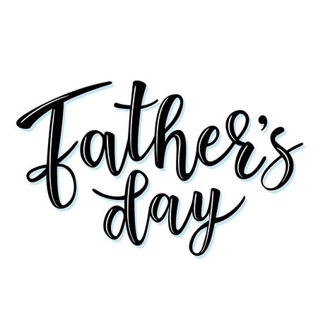 """矢量插图的邀请,祝贺或贺卡。""""父亲节""""海报,排版设计,字体"""