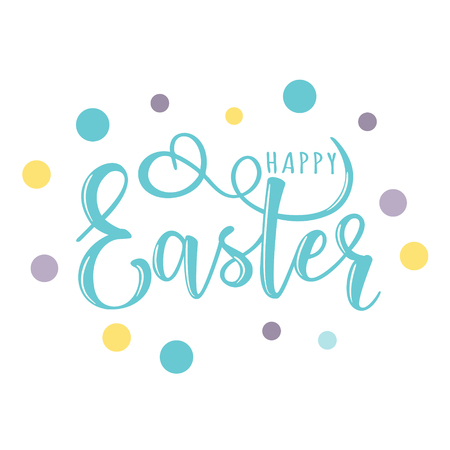 Vector illustration of happy easter text as pascha logotype vector illustration of happy easter text as pascha logotype badge and icon greetings postcard m4hsunfo