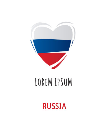 Heart with Russian flag design