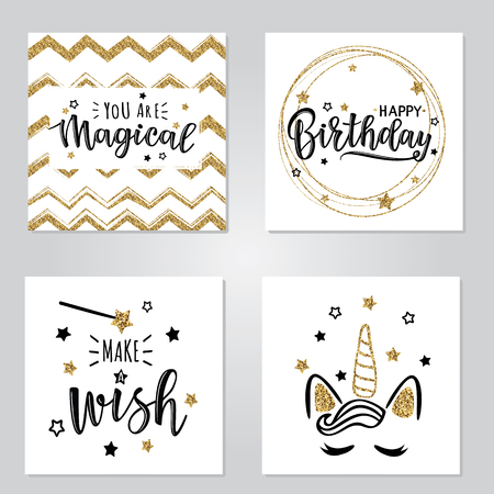 Vector illustration of a magical cards set.  Can be used for cards, flyers, posters, t-shirts.