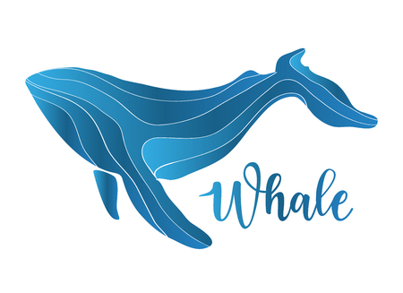 Vector illustration of an abstract whale Illustration