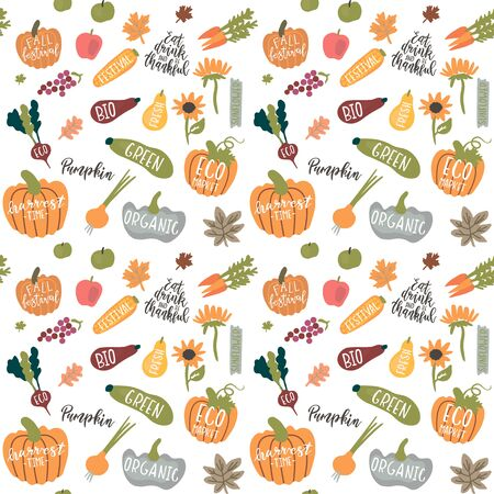 seamless pattern for harvest festival