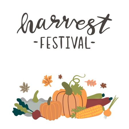 illustration for harvest festival