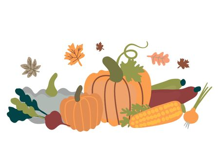 Vector illustration for harvest festival. It can be used for cards, brochures, poster and other promotional materials.  イラスト・ベクター素材