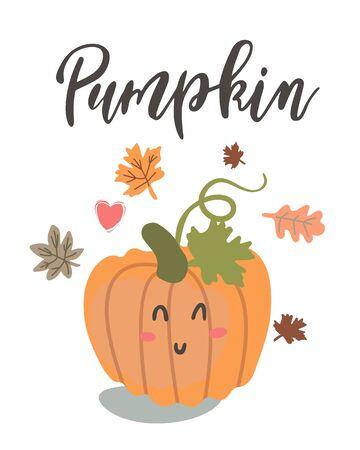 Handwritten Lettering Pumpkin