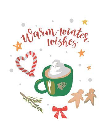 Christmas latte on a white background