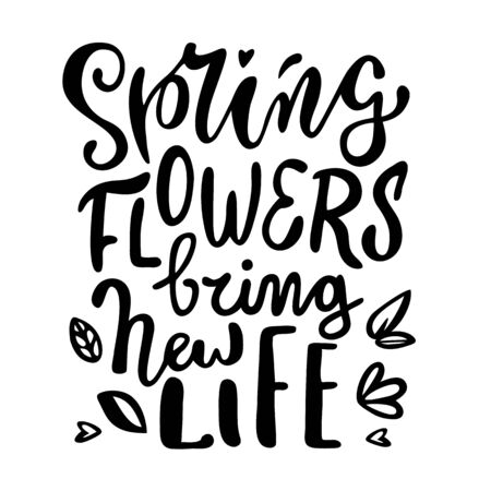 Cute simple vector lettering for spring holidays