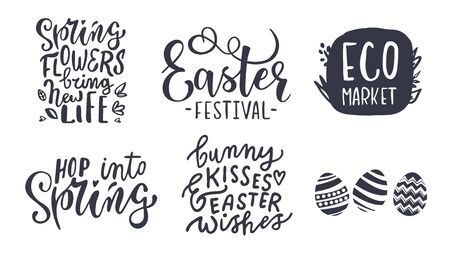 Cute lettering set for Happy Easter Day