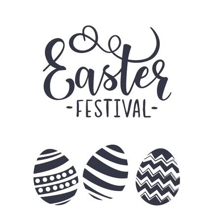 Cute lettering for Easter festival