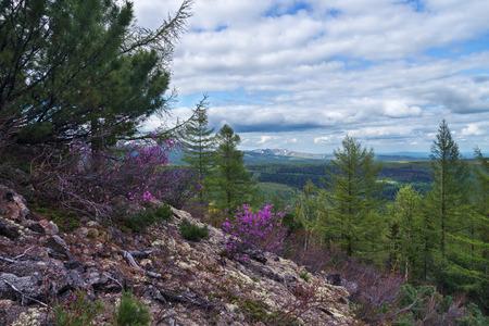 gory: Gory Ridge Miao Chan in the Russian Far East. Stock Photo