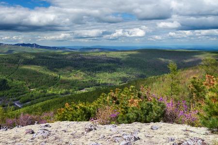 far east: Gory Ridge, Miao Chan en el Lejano Oriente ruso. Foto de archivo