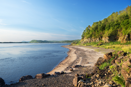 Nice summer day on the Amur River.