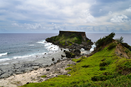 constant: Saipan island which is appropriate, first of all, amateurs of active rest. Ideal climate, which thanks to the constant daily temperature +27 degrees year round, creates optimal conditions for Fabulously beautiful place-Marianas archipelago-there was a Sai Stock Photo