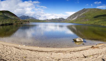 In the mountain ridge is Burey Russia's far East was Lake Big Suluk.  Beautiful mountain lake Big Suluk in Khabarovsk region.