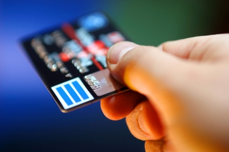 business transaction: credit card Stock Photo