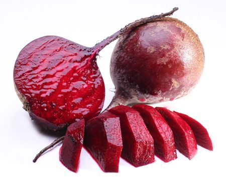 heartiness: Beet; object on a white background