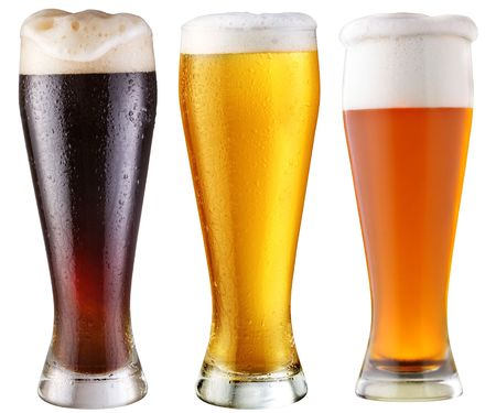 barman: black beer; object on a white background