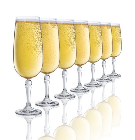 seven glasses of champagne Stock Photo - 5309074