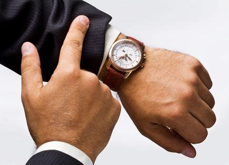 human wrist: clock
